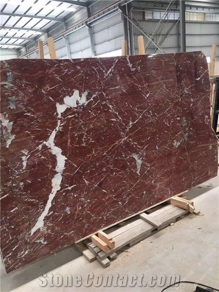 Red Marble Tile Flooring French Slab Home Depot