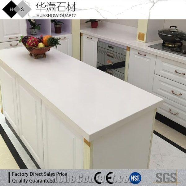 Pure White Quartz Kitchen Bench Tops,Hotel Kitchen Custom ...