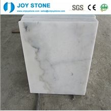 China Bianco Carrara Guangxi Ivory White Marble Slabs Polished Tiles