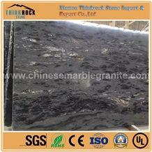 Premium Surface Matrix Titanium Black Granite Stone Slabs