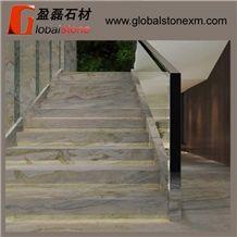 Steps Risers Magic Seaweed Steps Green Marble Walling Flooring Tiles