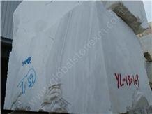 Volakas White Marble Blocks, Greece White Marble Blocks