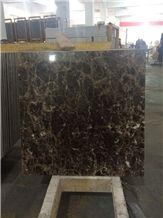 Dark Emperador Marble Composite with Ceramic Tiles