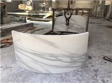 Decorative Column Panels Calaccata White Marble