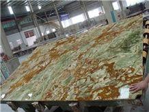 High Quality Green Onyx Slabs & Tiles,Fantasia Verde Onyx Slabs & Tile