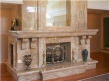Italy Breccia Oniciata Marble Fireplace,Breccia Pernice Chiara Marble