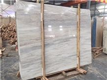 Eurasian White Wood Marble Slabs Wall and Floor Countertops Polished