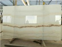 Ivory River White Onyx,Cut to Sizes Slabs&Tiles Polished
