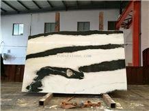 Panda White,Landscape Paintings,Sonal White Marble,Slab,High Quality