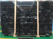 Silver Dragon,China Nero Portoro Black,Silver White,Negro Marble Slab