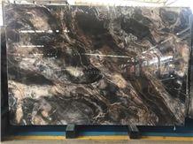 Venice Gold Marble Slabs,Seawave,Smoky Fantasy Black Marble Slabs