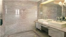 Aris Breccia Marble Bathroom Design