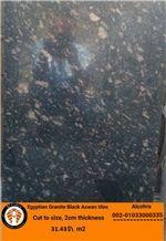 Granite Black Aswan Tiles, Egypt Black Granite