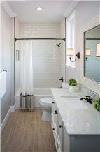 Artificial Stone Bathroom Vanity with Quartz Countertops