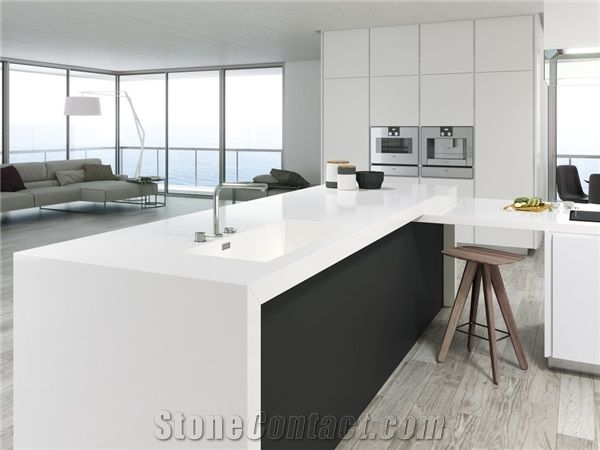 Factory Price Solid White 3cm Quartz Countertops From