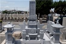 Oshima Stone , Oshima Ishi Granite Japanese Tombstone