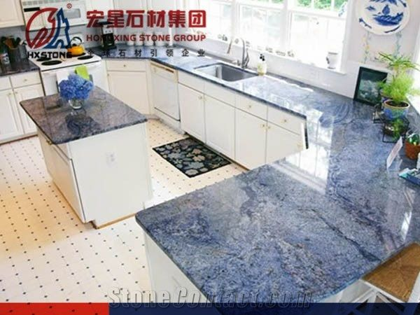 Blue Bahia Granite Kitchen Countertops