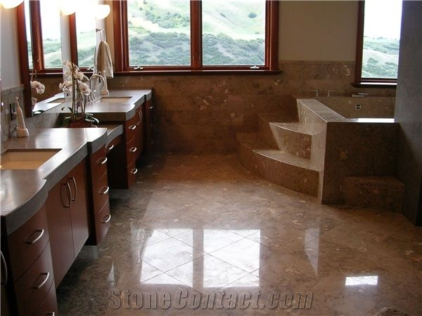 Solid Surface Bath Tops, Marble Floors Bathroom Design from United ...
