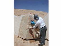 Honey Moon Limestone Blocks from Quarry