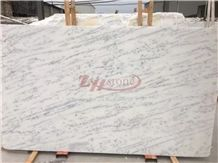 Fine Lines Chinese Snow White Marble Slabs Classic Tile