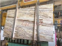 Jade Travertine Honey Traonyx Slabs for Floor Tile