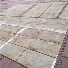 Luxuria Marble Golden Jade White Marble Tile Interior Decoration