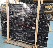 River Wave Ink Black Marble Magama Marble Slabs&Tile