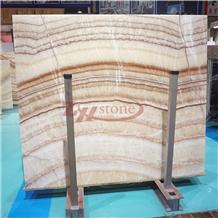 Smoke Beige Onyx Honeycomb Panels for Background