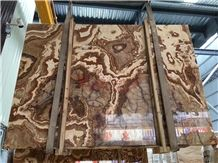 Tiger Onyx Multicolor Onyx Slabs for Background