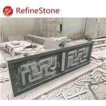 Natural Stone Padang Dark Granite Handrail for Sale
