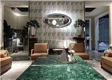 Green Malachite Gemstone Table Top,Semi Precious Stone Countertops
