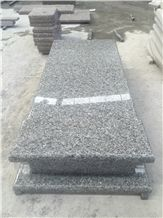 China Swan Grey Blue Granite Engraved Tombstone Wave Cover Slab Single
