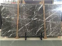 New Grigio Carnico Italy Grey Marble Slab Interior Floor Wall Covering