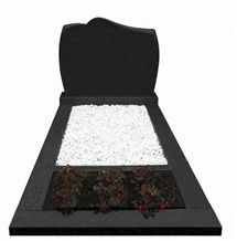 Simple Design Black Granite Bench Monument/Gravminner for Sale
