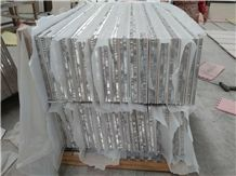 Moca Cream Veneer Composited with Aluminum Honeycomb for Wall Cladding