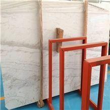 Greece Volakas Flower White Marble Slab Tile,Pirgon Mist Marble Floor