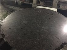 Brown Galaxy Quartz Top for Hotel Dining Table