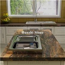 Natural Stone Quartzite Plateau Impression Stone Home Island Top
