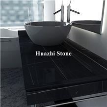 South Africa Marble Port Laurent Indoor Vanity Tops Black and Vein