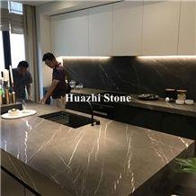 Supplier Bulgaria Grey Natural Stone Marble Bulgarian Ash Countertops