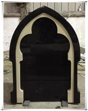 Ireland Black Granite Cemetery Tombstone Gravestone Headstone Design