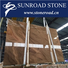 Cloudy Gold Marble Slabs, China Wooden Vein Gold Marble Floor Tiles