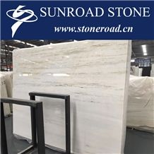 Royal Jasper Chinese White Marble with Grey Marble Slab Flooring Tile