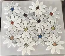 Beautiful Flower / Colorful Marble Mosaic Art