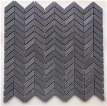 Lava Grey Andesite / Herringbone Floor & Wall Mosaic Tiles