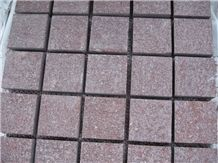 Red Porphyry / China Red Shouning Porphyry Cube Stone & Pavers ,Cut to Size