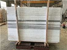A Class White with Grey Straight Veins Marble Slab&Tile/Gris Jupiter