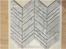 Carrara White/Bianco White Marble Mosaic Kitchen Mosaic Backsplash