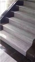 China Pujing Grey Wooden Marble Stairs & Steps,Floor Application