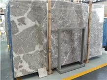 Dora Cloud Grey Marble Slabs and Tiles Polished for Countertops